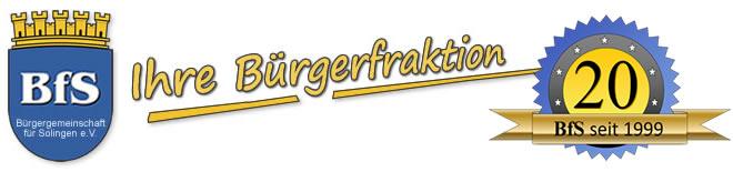 BfS - Bürgergemeinschaft für Solingen e.V.